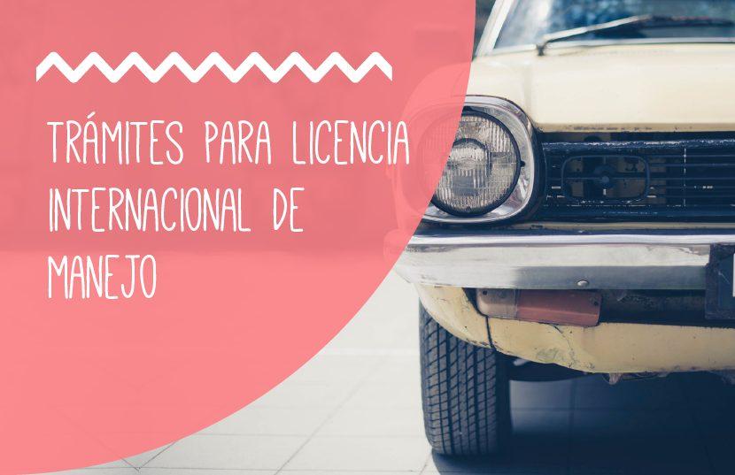tramitar la licencia internacional de manejo
